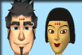 two people with the 666 on their foreheads
